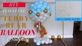 Dollar Tree Floating Teddy Bear Balloon Sculpture | Most ADORABLE Baby Shower Decor Idea