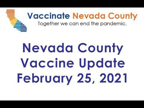Nevada County Vaccine Status Update Feb. 25, 2021