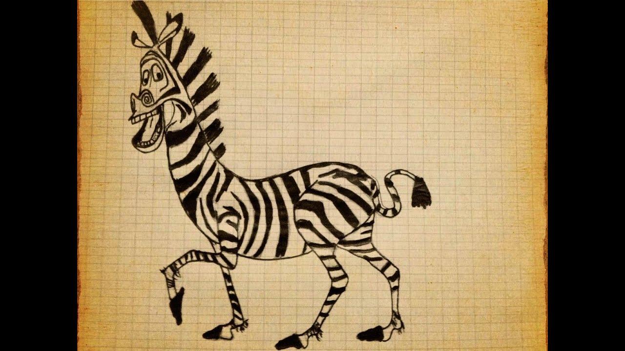 Uncategorized Madagascar Zebra how to draw zebra marty madagascar youtube
