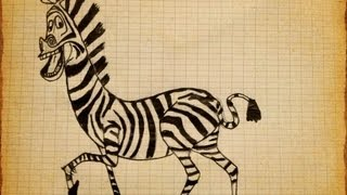 How to draw Zebra-Marty Madagascar