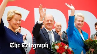 video: German election result: centre-left Olaf Scholz claims mandate to succeed Angela Merkel