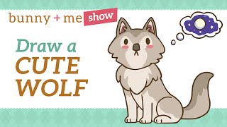How to draw a Wolf - Easy Drawing Tutorial for Beginners