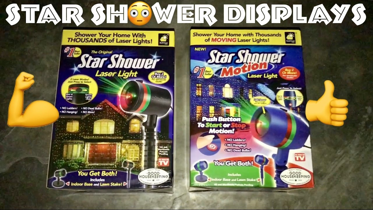 Star shower motion vs star shower laser light christmas decoration display comparison hd for Star shower motion m6