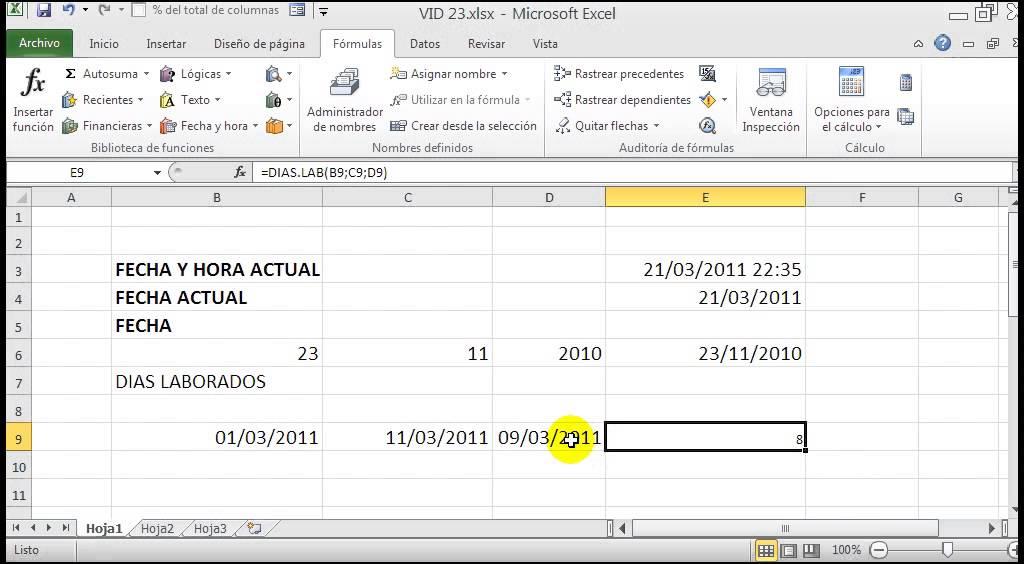 Clase 23 Microsoft Excel 2010 - Funciones de fecha y hora ...