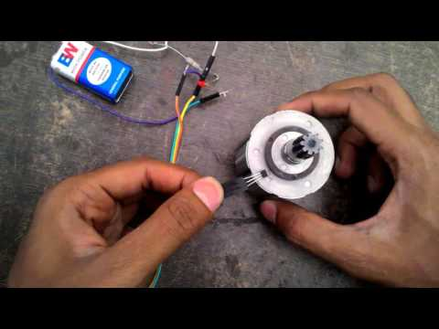 Hall effect sensor working with bldc motor shaft
