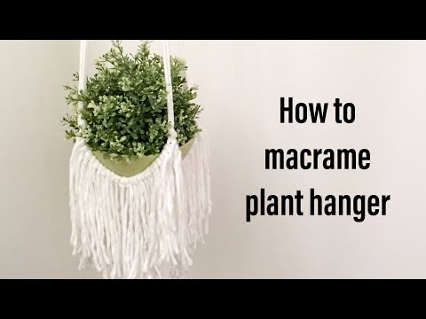 How to macrame plant hanger #1| macrame knots Step by Step tutorial| By TNARTNCRAFTS