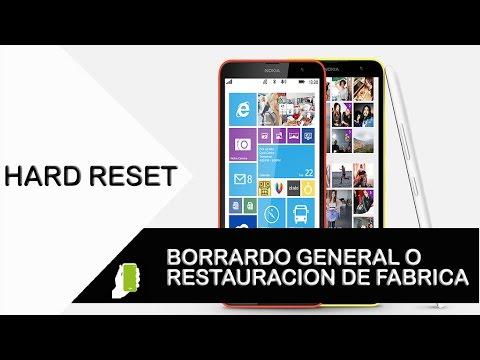 Nokia Lumia 1320 HARD RESET o Restauración De Fabrica