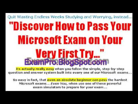 How To Pass Microsoft Exam On Your First Try Mcse Mcsa
