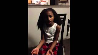 7 year old Carizma Ross offers words of comfort to victims of Sandy Hook