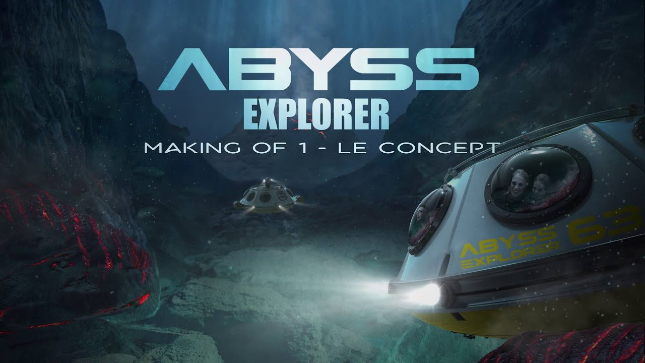 making of n 1 de l attraction abyss explorer vulcania youtube