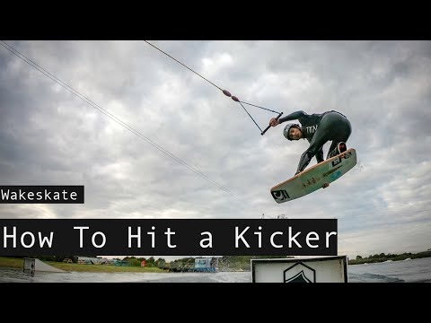 How To Hit A KICKER/RAMP On A Wakeskate.