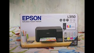 Epson L3150 Unboxing, Installation, Ink filling and Test Print