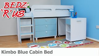 Kimbo Blue Cabin Bed - Bedzrus