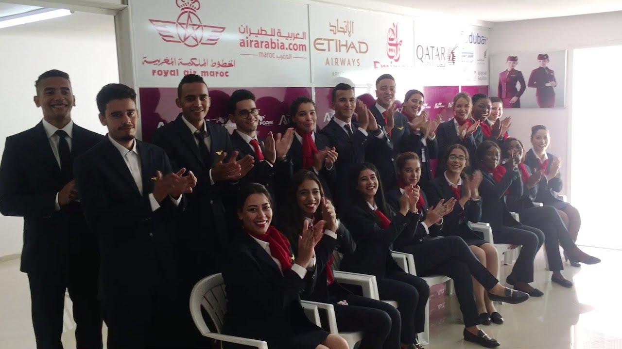 Devenir Hotesse De L Air Steward Au Maroc Cabin Crew Students In