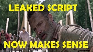 The Walking Dead Season 9 - LEAKED SCRIPT - NOW MAKES SENSE