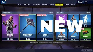 NEW STERLING SKIN SILVER SLEDGE PICKAXE AND INFERNAL WEAPON WRAP IN FORTNITE