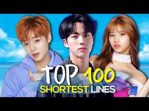 TOP 100 - SHORTEST Line Distributions of 2017