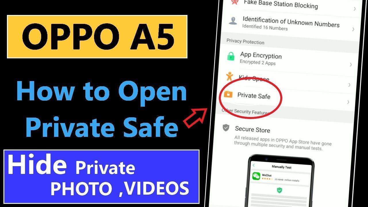 How to Open Private Safe in Oppo A5