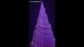 Burj Khalifa LED LIGHT SHOW Dubai 2018