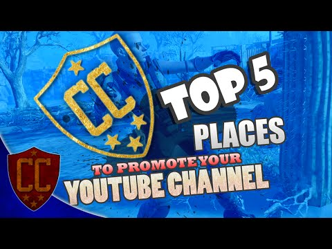 TOP 5 PLACES TO PROMOTE YOUR YOUTUBE CHANNEL! - Confidence Crew