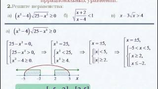 Иррациональные неравенства и системы уравнений.
