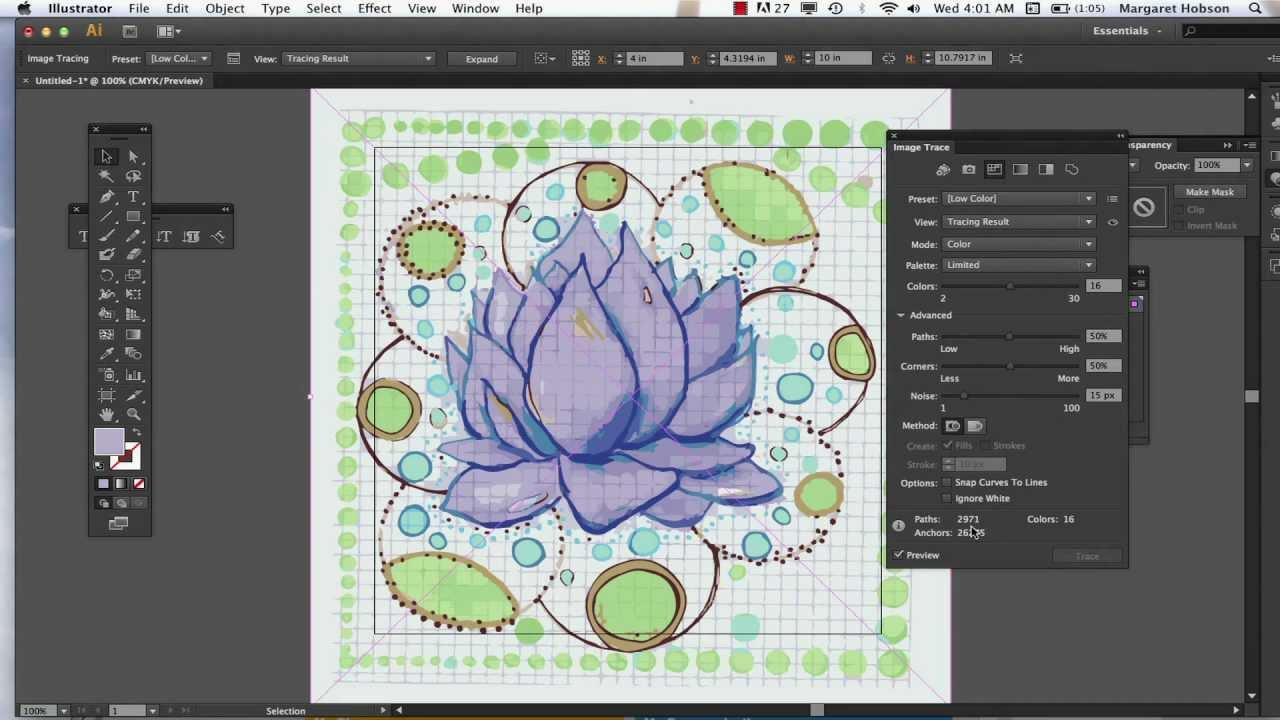 Image Trace In Illustrator Cs6 Youtube