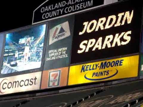 God Loves Ugly - Jordin Sparks - A's Post Game Concert