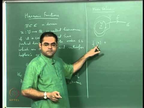 Mod-08 Lec-31 The Mean-Value Property, Harmonic Functions and the Maximum Principle
