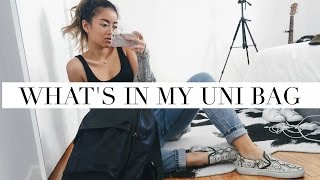 WHAT'S IN MY UNI BAG?! + STUDYING/SCHOOL OUTFITS | rachspeed
