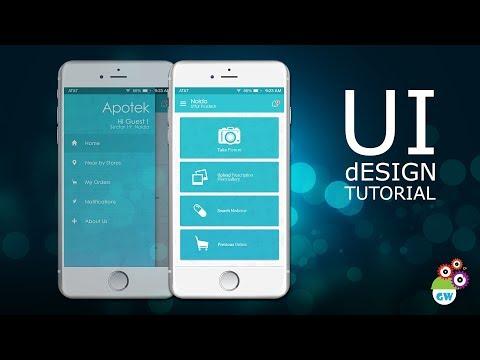 UI design tutorial - Medicine Delivery App Homescreen Design   Photoshop