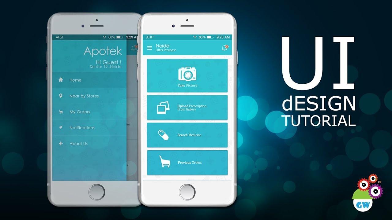 Best Kitchen Gallery: Ui Design Tutorial Medicine Delivery App Homescreen Design of Home Screen Design on rachelxblog.com