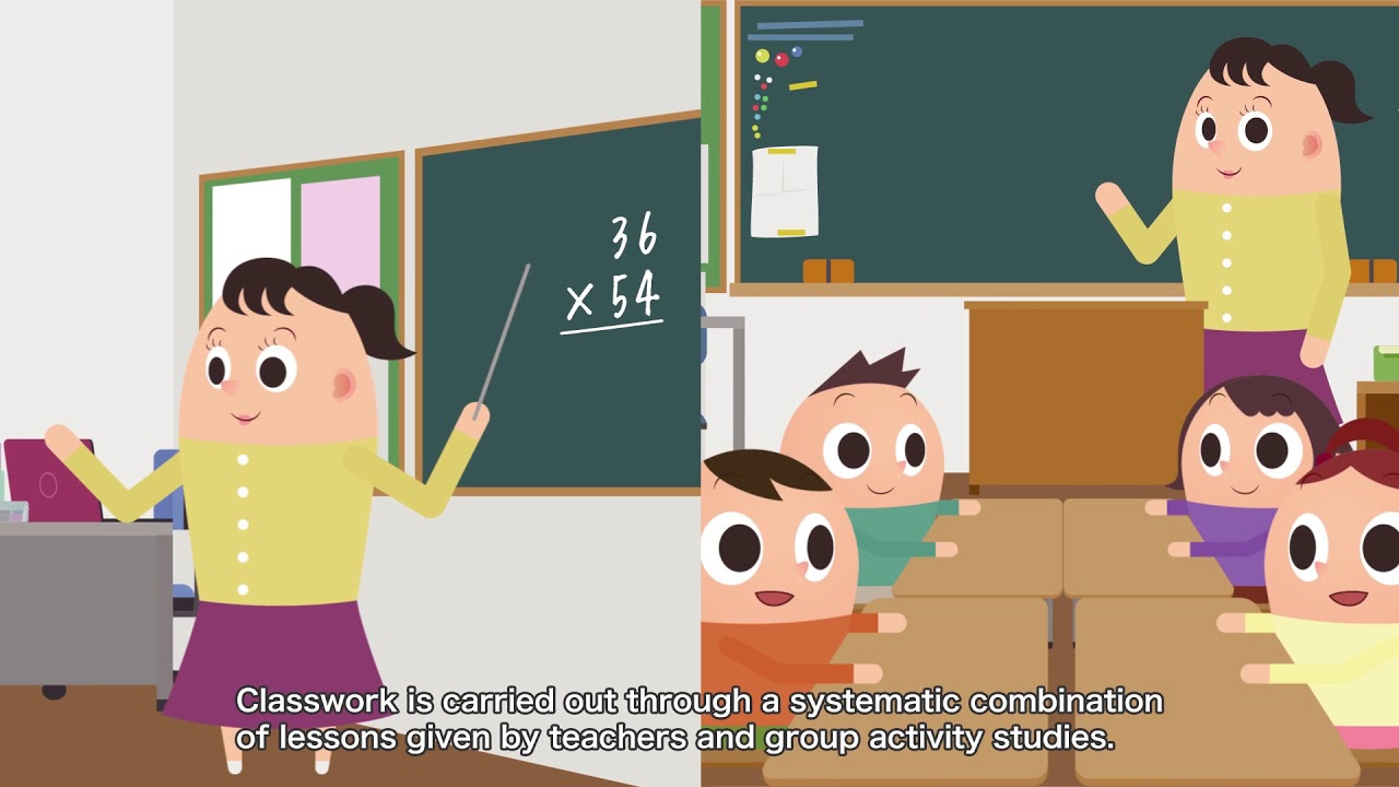 (English)Japanese-style education -One day of elementary school students in  Japan-