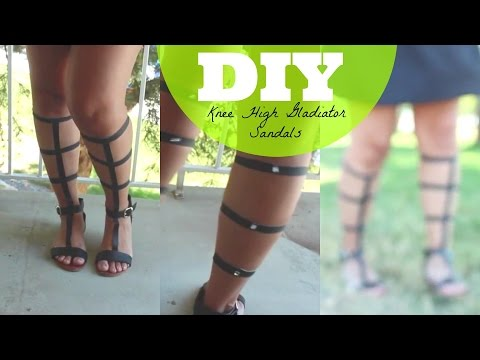 DIY Knee High Gladiator Sandals