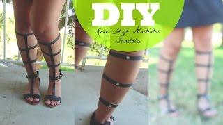 DIY Knee High Gladiator Sandals Thumbnail