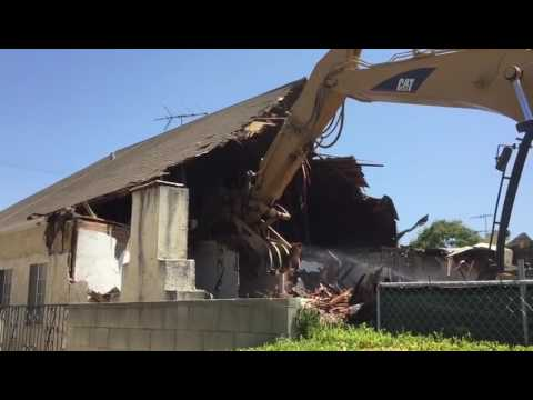 House Demolition in Beverly Hills, Los Angeles County, California