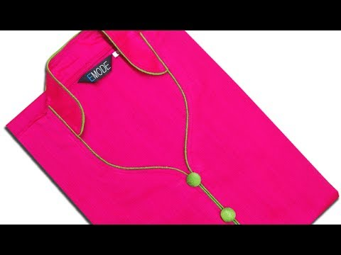 Half collar neck cutting and stitching, half collar neck design with piping
