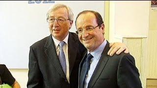 Hollande Eurogrup Başkanı Junker ile görüştü