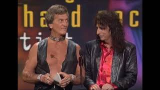 Pat Boone explains the story behind his leather clad AMA appearance with Alice Cooper