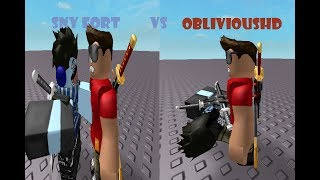 Sny Fort Vs ObliviousHD A roblox short