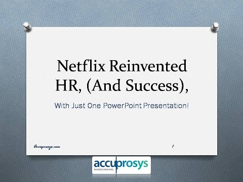 Netflix Reinvented HR Services
