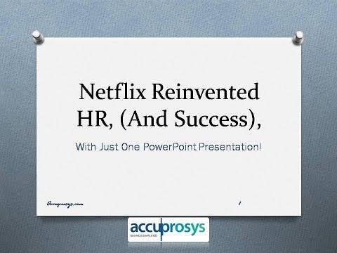 Netflix Reinvented HR Services