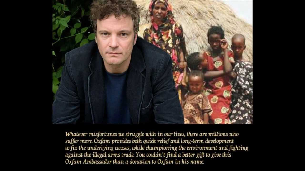 Watch Oxfam auctions date with Colin Firth video