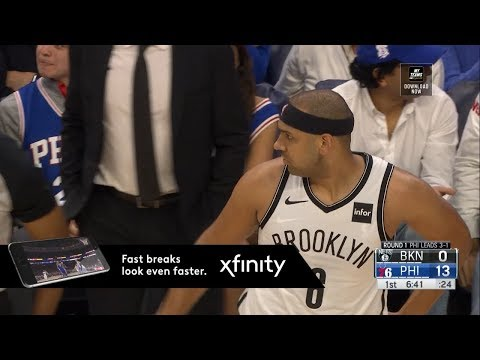 """Sixers Fans Chant """"Dudley Sucks"""" Nets vs 76ers - Game 5 