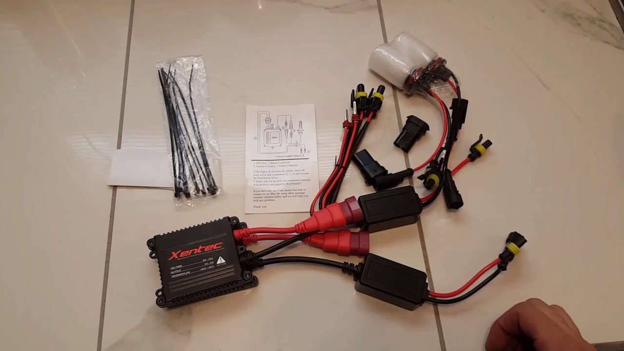 Xentec 55w HID Review and Install Guide - YouTube | Xantec Hid Ballast Wiring Diagram |  | YouTube
