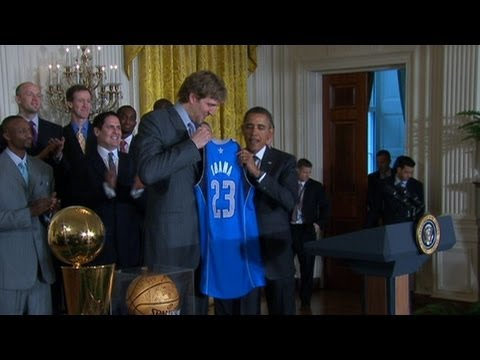 Obama hosts NBA champs Dallas Mavericks