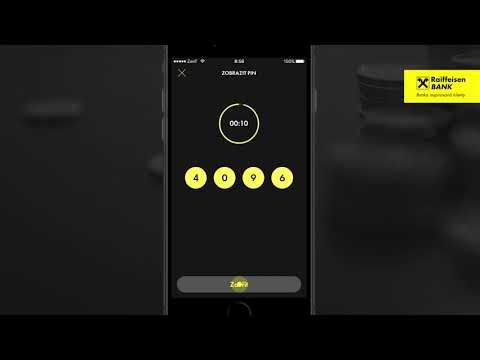 Mobilní bankovnictví - Zobrazení PINu ke kartám