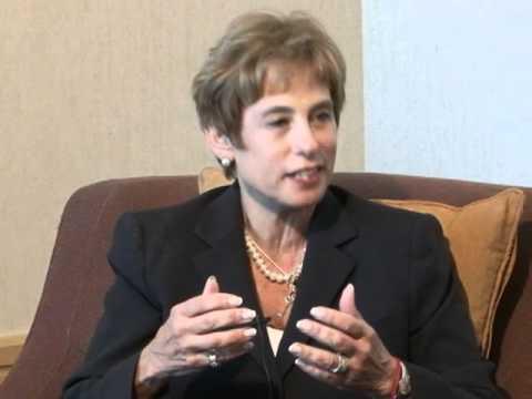 Nancy Falchuk, Hadassah President with Richard Peritz on Shalom Show 816s