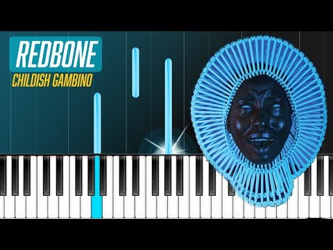 "Childish Gambino - ""Redbone""Piano Tutorial - Chords - How To Play - Cover"