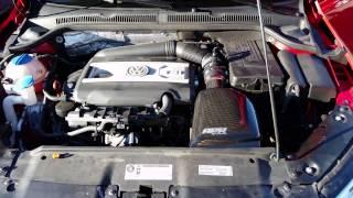 MK6 Jetta GLI APR Stage 1 Intake Revs!