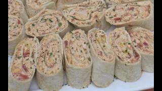 Easy Mexican Chicken Salad Pinwheels